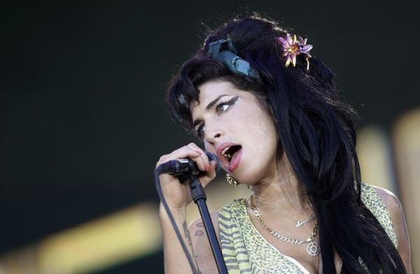 "British singer Winehouse performs during the ""Rock in Rio"" music festival in Arganda del Rey, near Madrid"