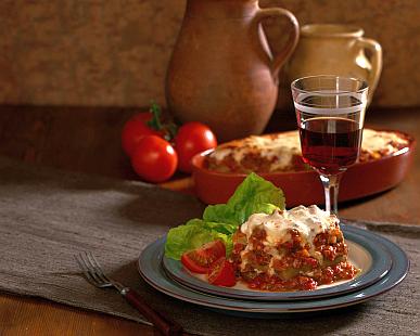 lasagna-and-wine