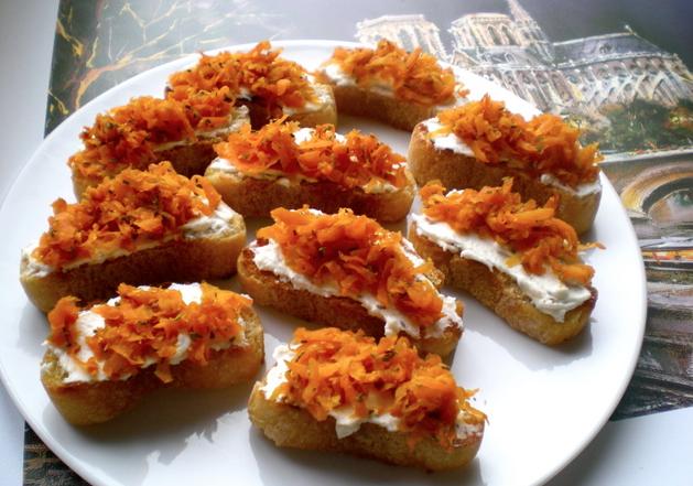 Geitaostur og gulrætur með hunangi... namm