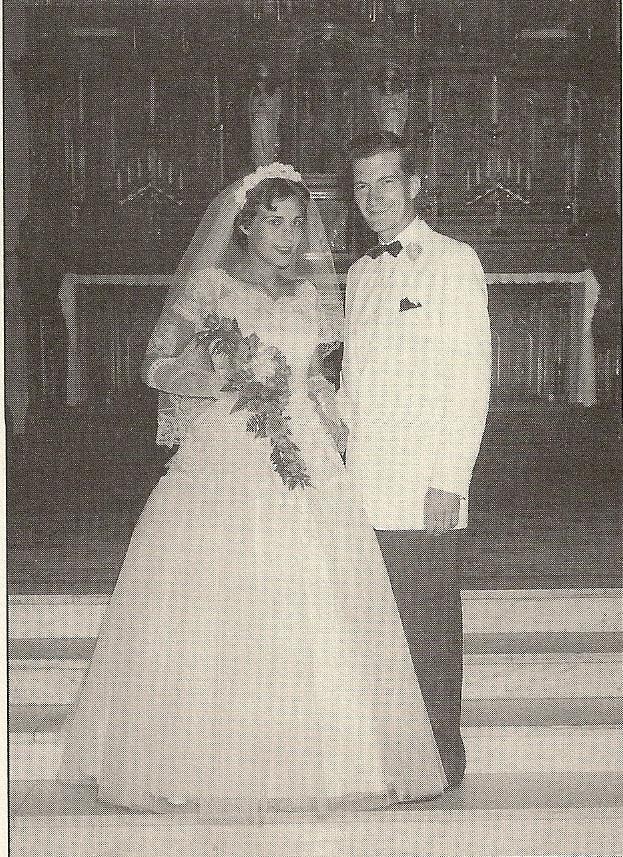 Foreldrar Jeannette, Rose Mary og Rex Walls á brúðkaupsdaginn 1956.