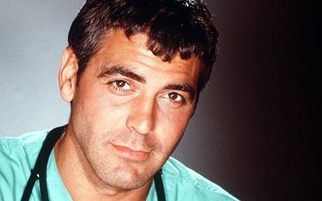 George Clooney er naut. Hér er hann í hlutverki Doug Ross úr ER.