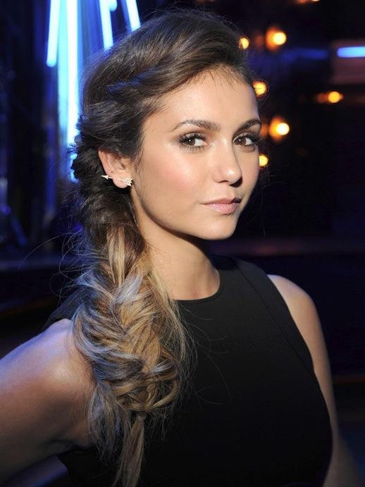 27-Le-Fashion-Blog-30-Inspiring-Fishtail-Braids-Nina-Dobrev-Messy-Side-Braid-Hair-Style-Via-Hollywood-Life