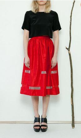 Red Window Skirt- Kyrja